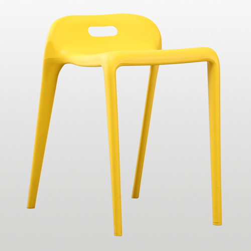 Low Back Stackable Plastic Chair Image 2