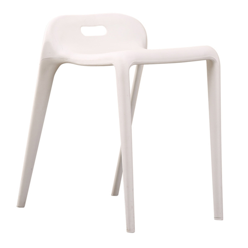 Low Back Stackable Plastic Chair Image 3