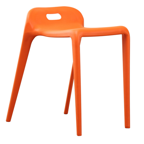 Low Back Stackable Plastic Chair Image 4