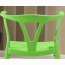 Wishbone Plastic Chair with Wooden Legs Image 9