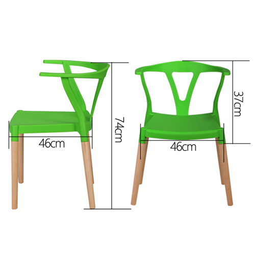 Wishbone Plastic Chair with Wooden Legs Image 14