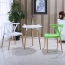 Wishbone Plastic Chair with Wooden Legs Image 3