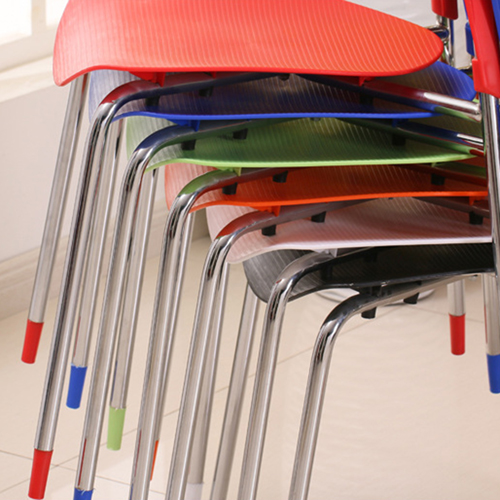 Creative Chrome Plastic Dining Chair Image 9
