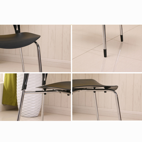 Creative Chrome Plastic Dining Chair Image 10