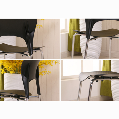 Creative Chrome Plastic Dining Chair Image 11