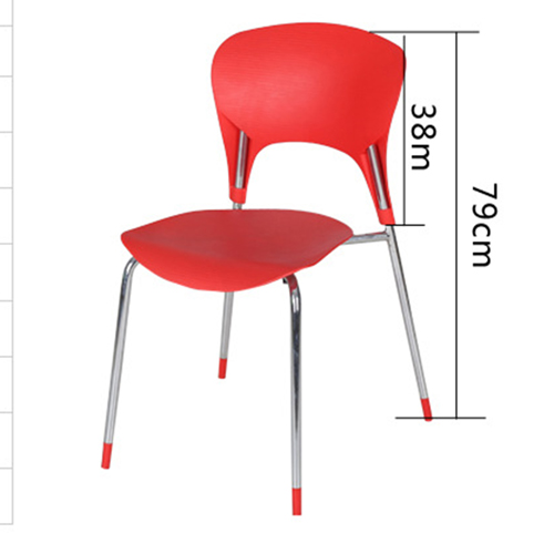 Creative Chrome Plastic Dining Chair Image 13