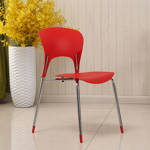 Creative Chrome Plastic Dining Chair