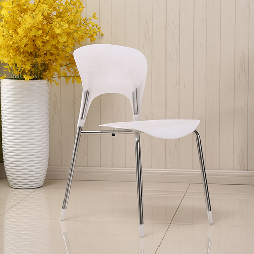 Creative Chrome Plastic Dining Chair Image 4