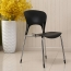 Creative Chrome Plastic Dining Chair Image 5
