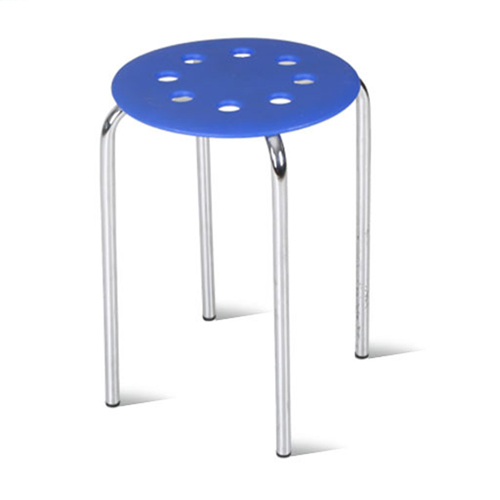 Norwood Metal Plastic Stackable Stool Image 2