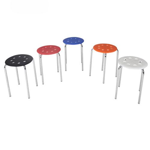 Norwood Metal Plastic Stackable Stool Image 6