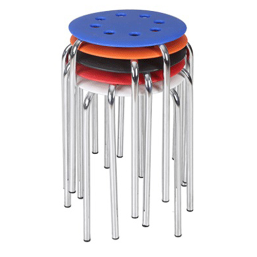 Norwood Metal Plastic Stackable Stool Image 7