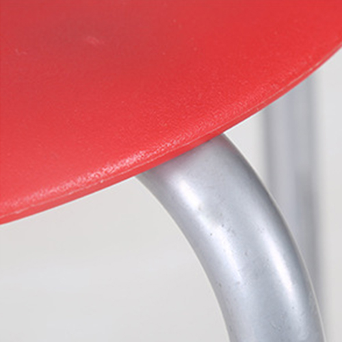 Portable Steel Base Plastic Stool Image 10