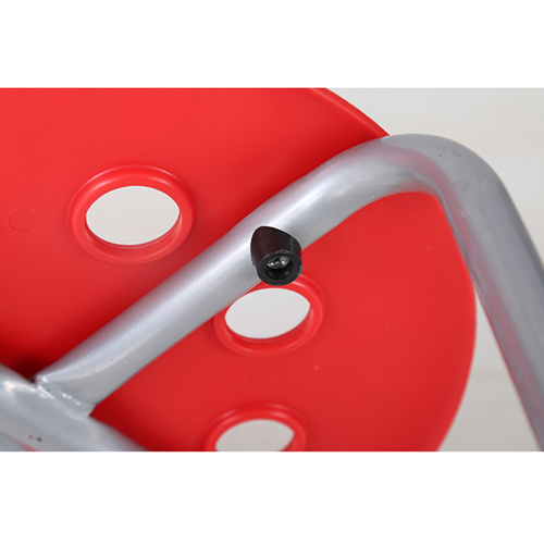 Portable Steel Base Plastic Stool Image 11