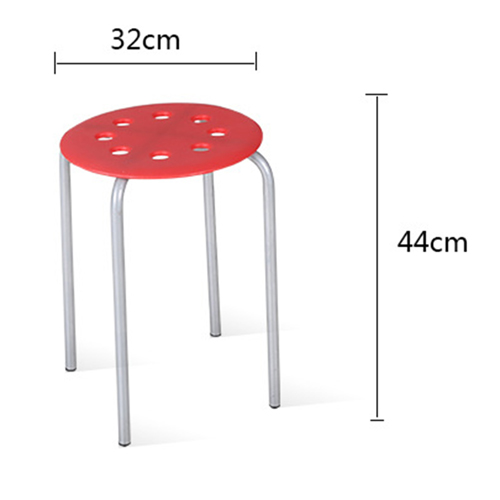 Portable Steel Base Plastic Stool Image 12