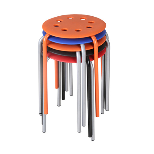 Portable Steel Base Plastic Stool