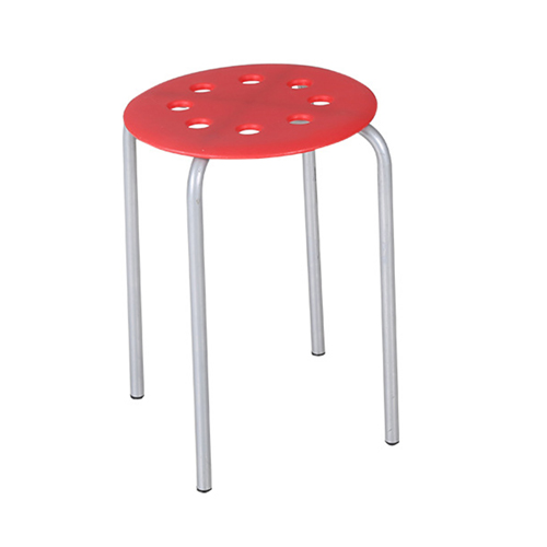 Portable Steel Base Plastic Stool Image 2