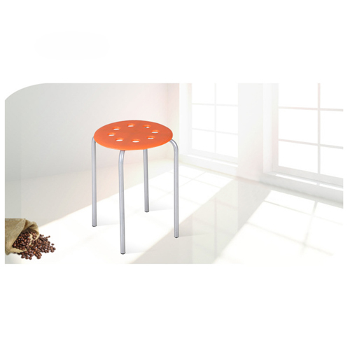 Portable Steel Base Plastic Stool Image 3