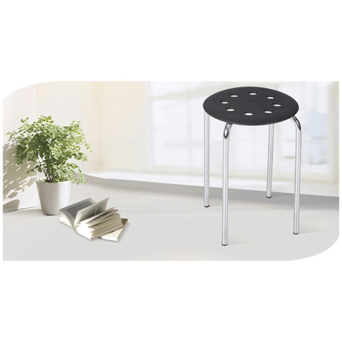 Portable Steel Base Plastic Stool Image 4