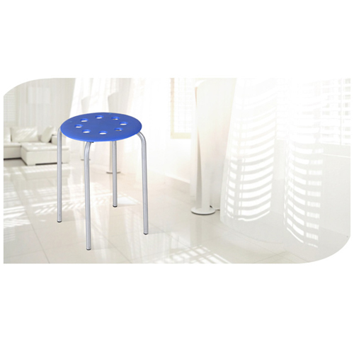 Portable Steel Base Plastic Stool Image 5