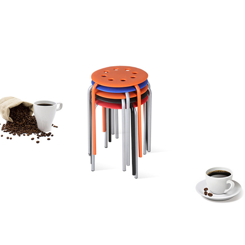 Portable Steel Base Plastic Stool Image 6