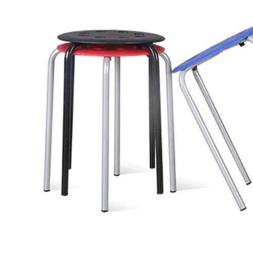 Portable Steel Base Plastic Stool Image 7