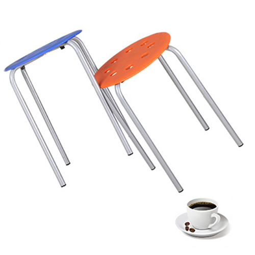 Portable Steel Base Plastic Stool Image 8