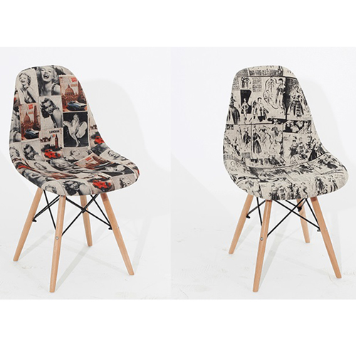 Patchwork Design Dining Chair Image 10