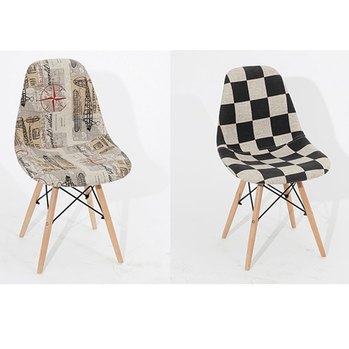Patchwork Design Dining Chair Image 12