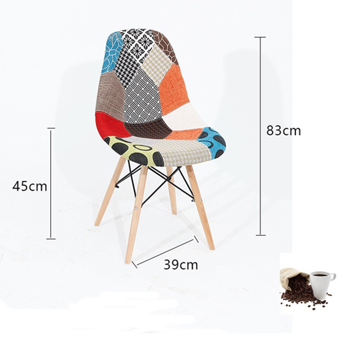 Patchwork Design Dining Chair Image 15