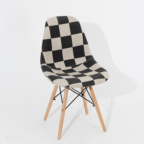 Patchwork Design Dining Chair Image 2