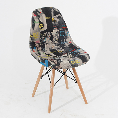 Patchwork Design Dining Chair Image 3