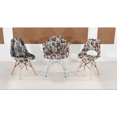Patchwork Design Dining Chair Image 6