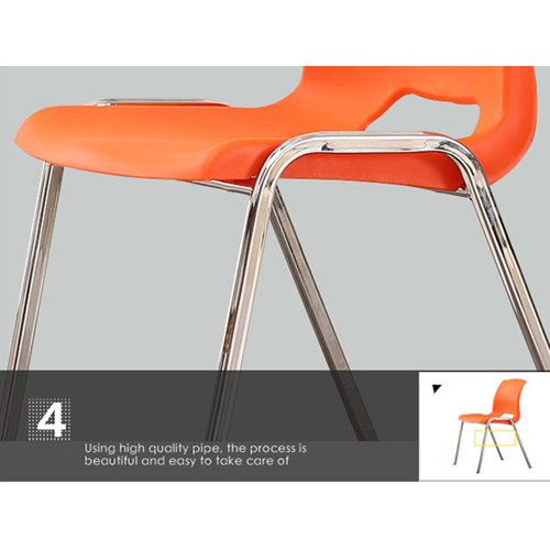 Creative Plastic Steel Stackable Chair Image 15