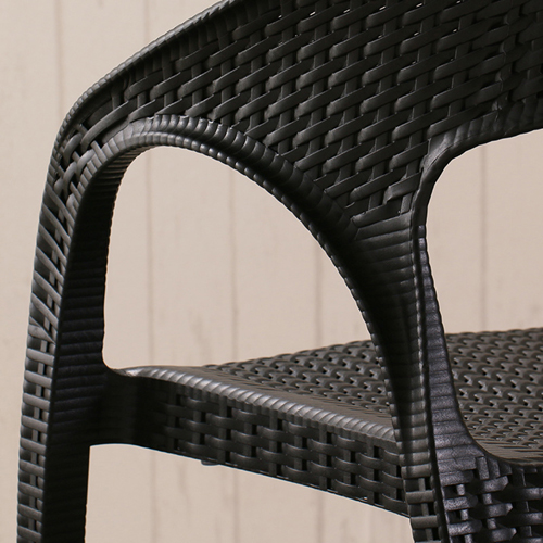 Moulded Plastic Rattan Armchair Image 10