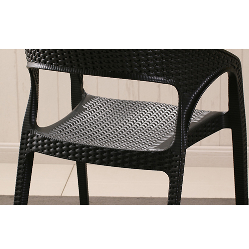 Moulded Plastic Rattan Armchair Image 11