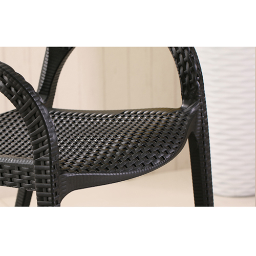 Moulded Plastic Rattan Armchair Image 12