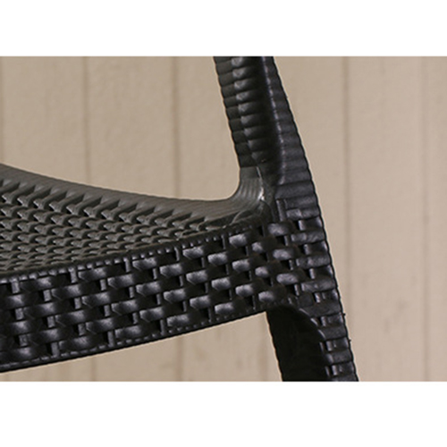 Moulded Plastic Rattan Armchair Image 13