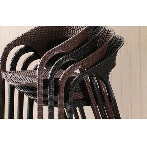 Moulded Plastic Rattan Armchair Image 15