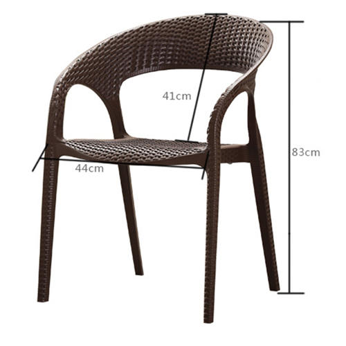 Moulded Plastic Rattan Armchair