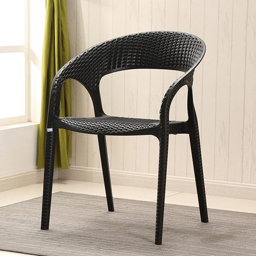 Moulded Plastic Rattan Armchair Image 5