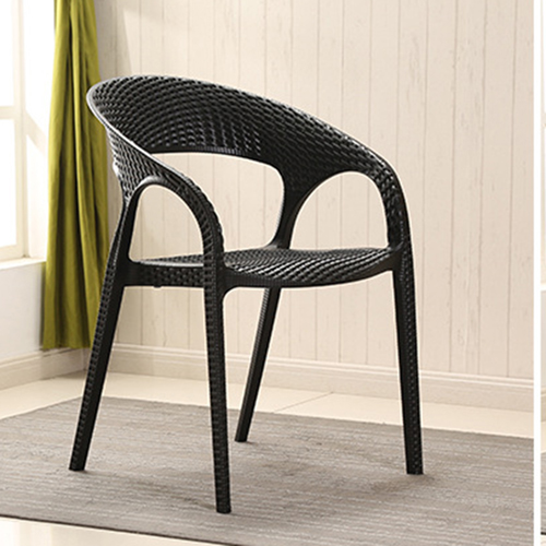 Moulded Plastic Rattan Armchair Image 6