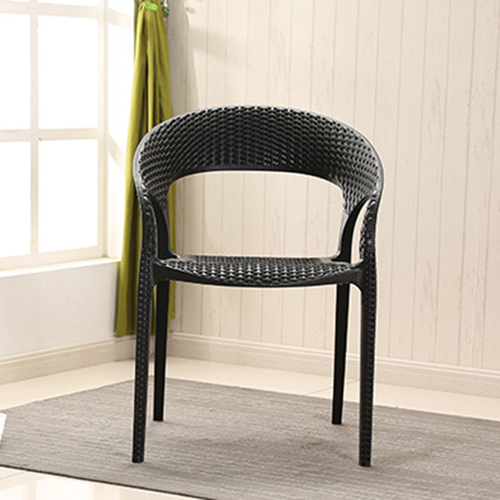 Moulded Plastic Rattan Armchair Image 9