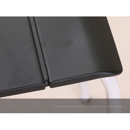 Square Plastic Sitting Stool With Metal Legs Image 14