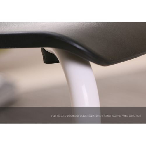 Square Plastic Sitting Stool With Metal Legs Image 15