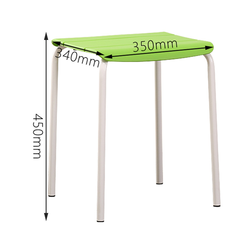 Square Plastic Sitting Stool With Metal Legs Image 19