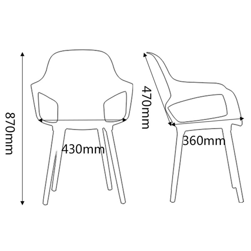 Ariel Breakout Wooden Leg Chair Image 21