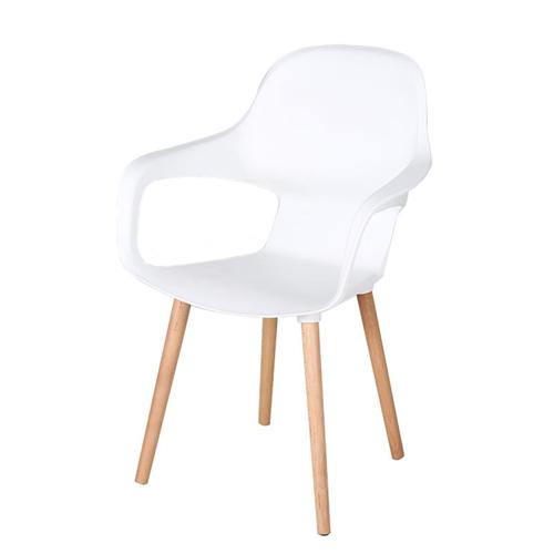 Ariel Breakout Wooden Leg Chair Image 2
