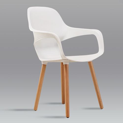 Ariel Breakout Wooden Leg Chair Image 7