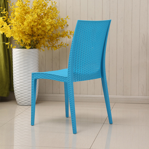 Rattan Stackable Dining Armless Chair Image 10